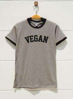 S M L XL  Vegan Tshirts Funny Tshirts Tumblr Quote by monopoko