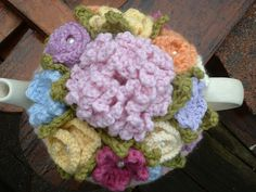 4 Cup Handknitted and Felted Tea Cosy with Flowers | Flickr - Photo Sharing!