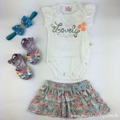 Apaixonada por esse cjto de Body e Saia   Temos ele na linha Baby e na linha infantil!  Acesse nossa loja virtual www.purezababy.com.br