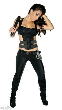 Sexitu Womens Sexy Swat Halloween Costume