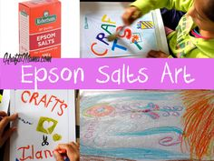 Ive been wanting to do the Art project printed on the side of the Robertsons Epsom Salts box for a while now and finally did it today!  Its very easy and lots of fun. You will need: Share this:Clic…