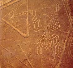 Nazca Lines - As you can see them only on an airplane. They are immense, and it would be impossible to draw these pictures on earth, without a cohordination by an airplane.