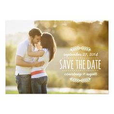 SIMPLE PHOTO OVERLAY SAVE THE DATE | WHITE