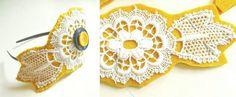 DIY Anleitung: Haarband mit Spitze // fashion diy: Lace headband via DaWanda.com