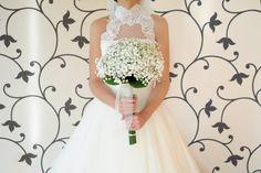 Bouquet. Paniculata. Ramo de novia {Foto, Días de vino y rosas fotografía}  #bridalbouquet #white #spain