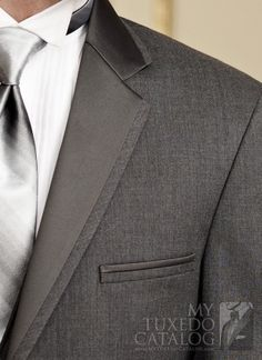 Theres something about dark gray tuxes that I love...