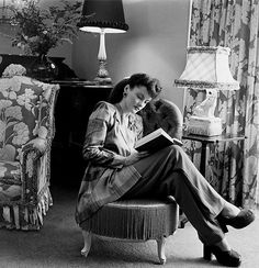 reading in an elegant home