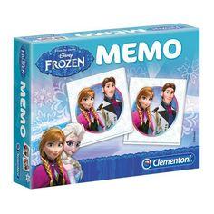 Frozen Memory. Disney Frozen memory spel waarmee kinderen op een speelse manier hun geheugen trainen. Inhoud: 48 stukjes. Geschikt voor 2-8 spelers vanaf 3 jaar.