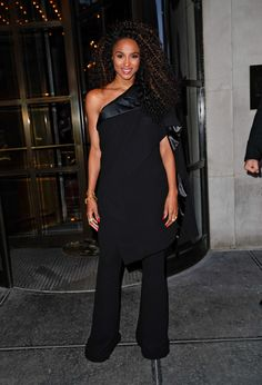 WHO: Ciara WHAT: Jean Paul Gaultier Couture, Pandora jewelry WHERE: On the street, New York City
