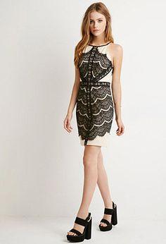 Eyelash Lace Bodycon Dress | Forever 21 - 2000155278