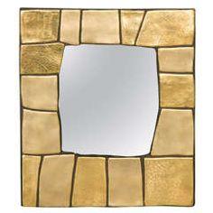 Rare 1960s Ceramic Mirror