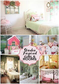 Garden inspired girls rooms! Whimsical rooms that would be perfect for my little girl! Like her own secret garden! The whole collection of ideas at Designdazzle.com