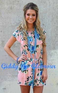 More Than Words Floral Romper in Pastel Pink | $39.95