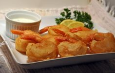 The Beer Cook: Beer Battered Shrimp and Mushrooms with Lemon Butter Mayo