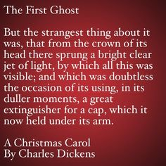 My Favorite Quotes from A Christmas Carol #19 0- The First Ghost