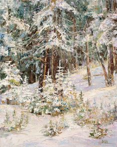 Next Generation (oil, 30x24) by Madina Croce  #landscape #winter #paintings