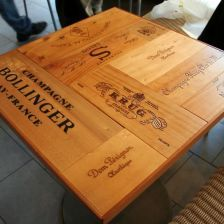 Wine Bistro, Wine Furniture, Decoupage, Wine Table, Wine Cork Crafts, Resin Table, Wood Boxes, Bamboo Cutting Board, Wood Wall