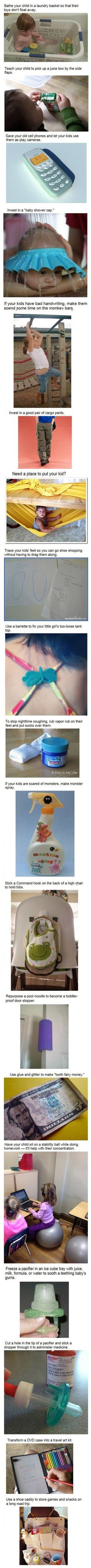 Great ideas for kids...just use water for the frozens paci though