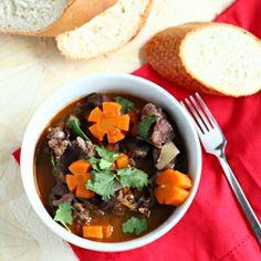 Vietnamese beef stew in red wine sauce (Bo sot vang)