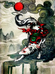 Okami by yuumei on DeviantArt