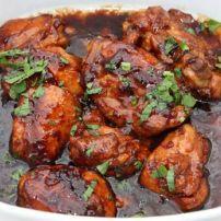 Javaanse kip in sojasaus, heerlijk bij bami, nasi of witte rijst...