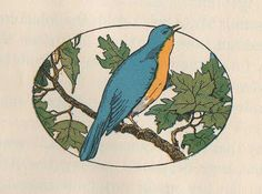 Leaping Frog Designs: Little Blue Bird Vintage Free Image