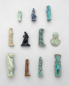 Ancient Egyptian Amulets | Museum of Fine Arts, Boston Wouldn't it be fun if these were in the tea box