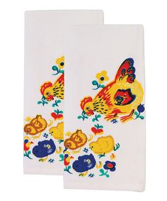 Look at this Mama Hen Flour Sack Towel - Set of Two on #zulily today!