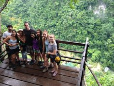 In Guatemala with some new backpacker friends.