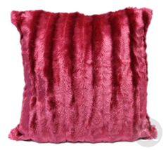 Burgundy Fur Cushion