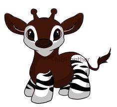 okapi drawing - Google Search