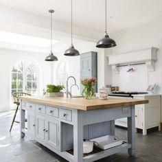 Image result for farmhouse kitchens that aren't white