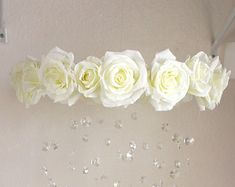 Floral mobile baby mobile mobile flower mobile by Littlearrowstwo