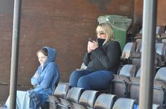 Trojan travelling support treated to seats at Menwith...still looks cold!