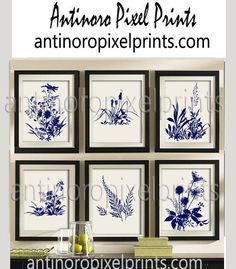 Do you like these for the living room? Navy Creme Botanical Digital Floral Damask by antinoropixelprints
