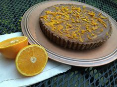 This raw vegan chocolate caramel tart with orange and sea salt just might be the most gourmet dessert I've ever made.  It's 100% natural and unprocessed!