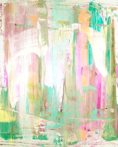 810 stretched print on canvas- green, $395.00 by Lindsay Cowles Fine Art