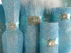 Awesome Christmas Wedding Centerpieces Decorations Ideas : Blue Christmas Wedding Centerpieces Decorations