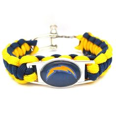 NFL San Diego Chargers Football Team Paracord Bracelet