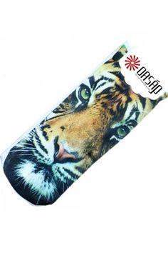 Tiger Graphic Crew Socks