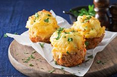 Shepherd's pie 'muffins' - Makeover a classic recipe into these individual serves of shepherd's pie.