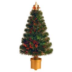 2.67 ft. Fiber Optic Evergreen Firework Pre-lit Christmas Tree - SZEX7-100L-32-1