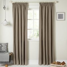 Buy John Lewis Croft Collection Ashbury Linen Lined Pencil Pleat Curtains Online at johnlewis.com