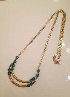 #Azurite long #necklace $68 handmade by Raised By Wolves NYC