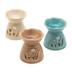 Tulip-inspired Glazed Ceramic Oil Warmers – MNM Gifts