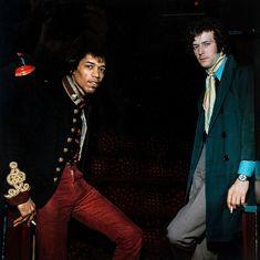 Jimi Hendrix & Eric Clapton, London 1967 Photographie de Herb Schmitz