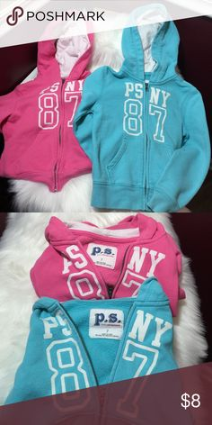 Girls P.S. Aeropostale Zip Hoodies Size 7 Girls P.S. Aeropostale Zip Hoodies Size 7 Gently Worn. Aeropostale Shirts & Tops Sweatshirts & Hoodies