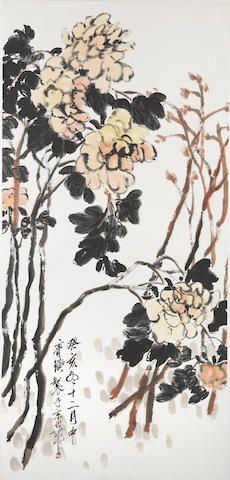 Qi Baishi (1864-1957)  Chinese peonies