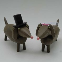 Bride and Groom Dachshunds...