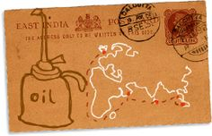 East India postcard with map from Bangla Stories A three-year London School of Economics/University of Cambridge project